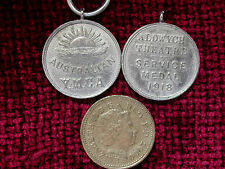 Replica Copy ANZAC YMCA Aldwych Theatre Medal 1918 moulded from original