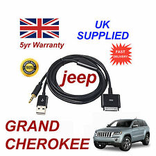 JEEP GRAND CHEROKEE MULTIMEDIA ADAPTER  iPhone 3GS 4 4S iPod USB Aux Cable black
