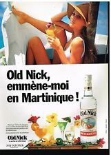 Publicité Advertising 1989 Le Rhum Agricole Old Nick