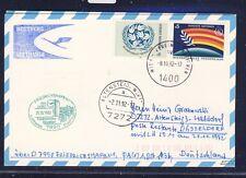 51960) LH FF Friedrichshafen - Düsselforf 25.10.92, Karte ab UNO Wien