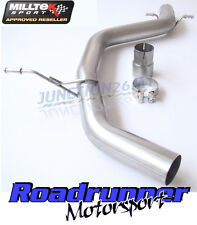 Milltek Seat Leon FR Exhaust 2.0 TDI 170PS DPF Non Resonated Centre Pipe MSVW259