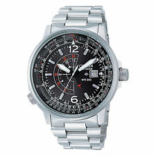CITIZEN BJ7010-59E Eco-Drive Promaster Nighthawk Aviator Pilot Steel Men's Watch