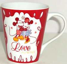 Disney Mickey Minnie Mouse Love Always Kiss Me Coffee Mug Valentines Day