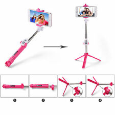 Pink Selfie Stick Tripod Bluetooth Remote Shutter For Samsung Galaxy S7 edge J7