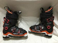 Salomon Quest Max 130 Ski Boots black orange size 25.5 wintersports skiing nice