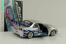 Movie casi & and Furious brians Nissan Skyline GT-R r34 1:18 GreenLight