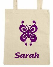 Personalised Cotton Butterfly Tote/Shopping/Shoulder Bag  CHOICE OF COLOURS