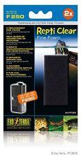 Exo Terra Repti Clear Filter Replacement Fine Foam F250 2 pack PT-3616