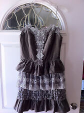 Manoush Robe bustier gala Grise Dress Gray New w/tag
