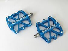 TMC 9/16 Blue Metal Alloy Aluminum Mountain Bike Bicycle MTB BMX Flat Pedals