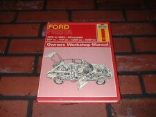 HAYNES MANUAL FOR FORD FIESTA MK 1. 1976 TO 1983. L GL GHIA SPORT XR2