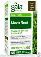 NEW GAIA HERBS MACA ROOT SUPPORTS ENERGY & STAMINA PROMOTES EMOTIONAL WELL-BEING