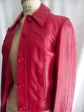 Women's Vintage Red leather Jacket, Made in Israel,  Size 4, Excellent Condition