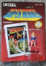 ERTL DC COMICS SUPER HEROES DIE CAST METAL Figura Supergirl BLISTER CARD RARE