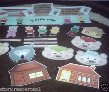 THE 3 THREE LITTLE PIGS teaching resources story sack KS1 EYFS SEN childminder