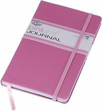 PINK HARD BACK ART OF WRITING TRAVEL & HOLIDAY JOURNAL LINED PAPER NOTE BOOK RB