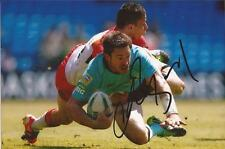 LONDON BRONCOS RUGBY LEAGUE * CHRIS BAILEY SIGNED 6X4 ACTION PHOTO+COA