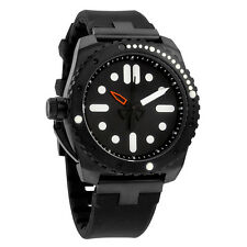 Vestal Restrictor Diver 43 Black Dial Black Silicone Mens Watch RED3S02