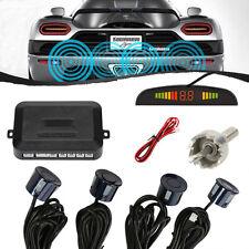 4pcs Car Rear Reversing Reverse Backup Parking Sensor Four Kit Buzzer Alarm Blue