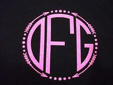 "3"" DIY GLITTER Vinyl Monogram For Clothing, Iron On, You Pick Color and Style"