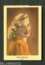 1950's Dutch Gum Card Small Text JUNE ALLYSON Too Young to Kiss RIGHT CROSS NM