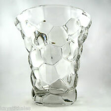 "Grand VASE ""Nid d'Abeille"" Cristal PIERRE D'AVESN Art Déco 1930 Design/daum/20th"