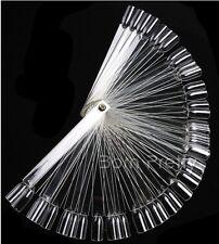 50 Präsentations Stäbchen Nail Art Tips Präsentation Fächer Ring Display klar