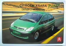 CITROEN XSARA PICASSO - Original Car Owners Handbook - Mar 2001- # N68-GB-3001/3