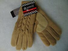 Isotoner Casual Cable Knit Gloves Thinsulate Lined Camel Beige One Size #C148