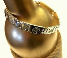 History of Ireland Sterling Silver Storybook 6 Link Bracelet Excellent Preowned