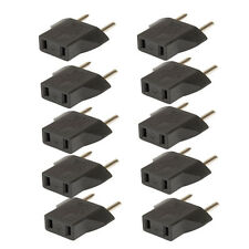 10pc/set Travel Charger Wall AC Power Plug Adapter Converter US USA to EU Europe
