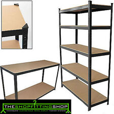 Boltless Shelving 5 Tier Heavy Duty Rack for Home Warehouse Shop Display Garage