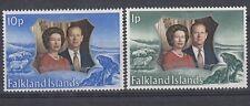 Falkland Islands  1972 Nozze d'argento Elisabetta II 217-8 MNH