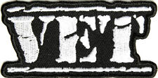 VET VETERAN MILITARY STAMP LETTERS WHITE PATRIOTIC IRON ON PATCH