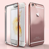 For New Apple iPhone 6S & 6 SE 5S TPU Gel Jelly Skin Case / Cover Crystal Clear