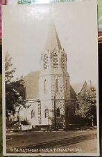 PENDLETON, OREGON, Photo Post Card 1910-18, Church, STREET SCENE, CANCEL