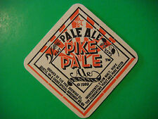 BEER Coaster Bar Mat ~ PIKE Brewing Co Pale Ale,  Stout ~ Seattle, WA Since 1989