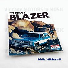 1975 Chevrolet NOS Uncirculated Blazer C10 2-Wheel K10 4-Wheel Brochure 3028
