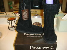 Bear Paw Knit Tall Short Sweater Black Boot Nice Quality Comfortable $95 6