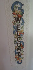 """LACE WALL HANGING """"WELCOME"""" FROM HERITAGE LACE USA"""