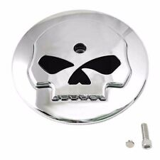 Chrome Skull Air Filter Cleaner Cover Insert fits Harley Davidson Stock Intake