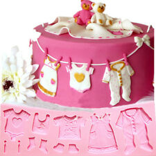 Baby Clothes Shower Silicone Mould Fondant Kitchen Cake Mold For  Baking Tool