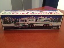 1995 Hess Toy Truck and Helicopter, Head & Tail Lights Operating Rotors & Lights