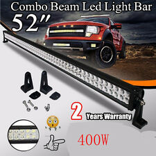 52inch 400W Spot Flood Combo Led Work Light Bar Driving Aluminu 4X4WD Jeep BOAT