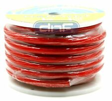 0 Gauge  25 Feet Red Amplifier Power/Ground Wire 1/0 Ga AMP Wire Cable