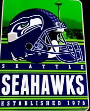 Seattle Seahawks blanket bedding throw 80x60 SILK feel FREE SHIPPING NFL NFC