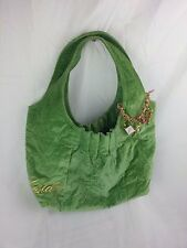LIMITED EDITION 6 GOLDIE VELVETY HANDBAG W/ CHARMS Green Jeanne & Dinch