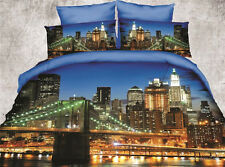 3D New York America USA Bedding  Bed Sets Sheet Duvet Cover Queen size 4pcs