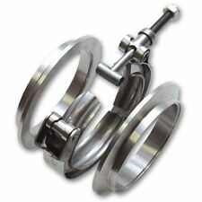 Vibrant T304 SS  V-Band Flange Assembly 1.75in OD Tubing;  2 flanges & 1 Clamp