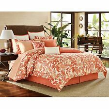 3-Pc Tommy Bahama Palma Sola Full-Queen Duvet Set Coral Ivory Tropical Floral